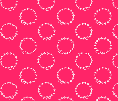 Envelop Par Avion in Fuchsia fabric by pennydog on Spoonflower - custom fabric