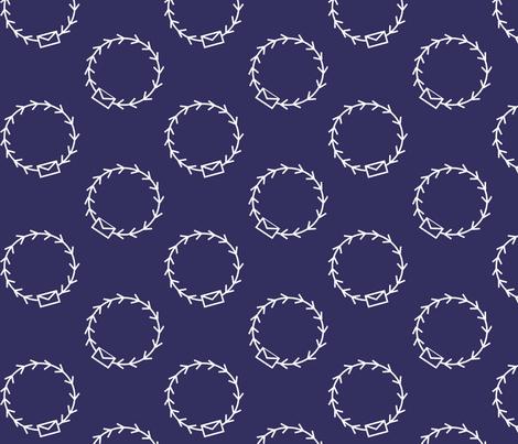 Envelop Par Avion in Mailman fabric by pennydog on Spoonflower - custom fabric