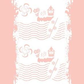 Surfing stripes pink - Medium