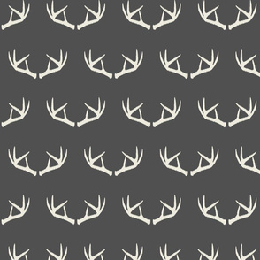 Antlers-Dark Gray & Cream