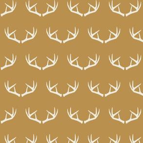 Antlers-Mustard & Cream