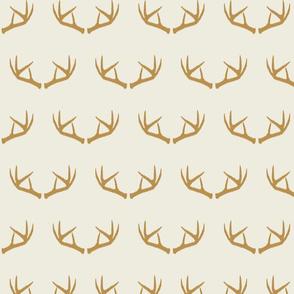Antlers-Cream & Mustard