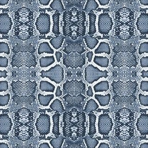 snake checkerboard-indigo