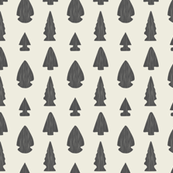 Arrowheads-Cream & Dark Gray