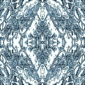 feather montage-indigo