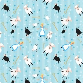 Little Bopeep & Sheep Blue