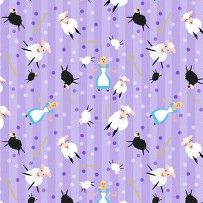 Little Bo Peep & Sheep Purple