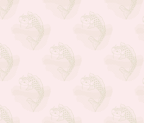 Koi Repeat Pink Small fabric by liliflorapretty on Spoonflower - custom fabric