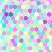 Honeycomb in Rainbow Unicorn Colors