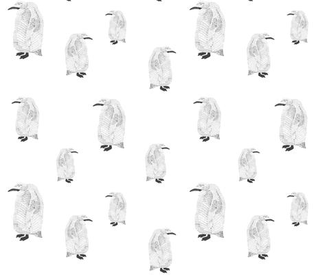 penguin black on white fabric by igotstripes_studio on Spoonflower - custom fabric