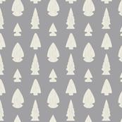 Arrowheads-Light Gray & Cream