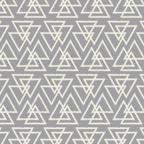 Trilogy Triangles-Light Gray & Cream
