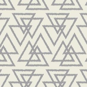 Trilogy Triangles-Cream & Light Gray