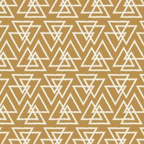 Trilogy Triangles-Mustard & Cream
