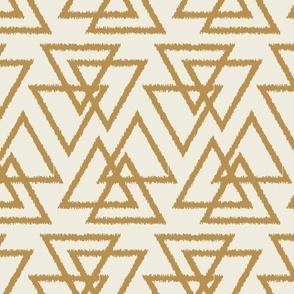 Trilogy Triangles-Cream & Mustard