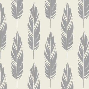 Feathers-Cream & Light Gray