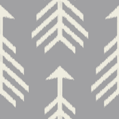 Arrows-Light Gray & Cream
