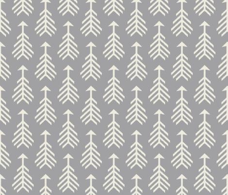Arrows-Light Gray & Cream fabric by bohemiangypsyjane on Spoonflower - custom fabric