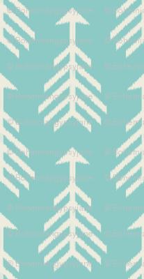 Arrows-Turquoise Sky & Cream