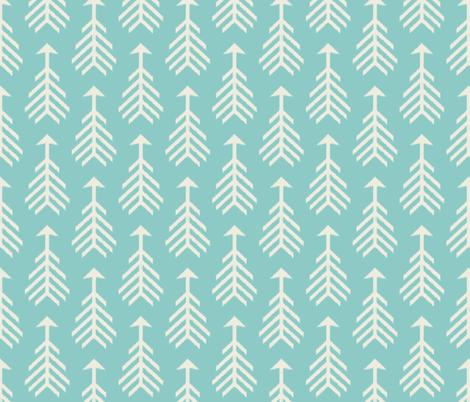 Arrows-Turquoise Sky & Cream fabric by bohemiangypsyjane on Spoonflower - custom fabric