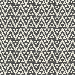 Geo Tribal-Dark Gray & Cream