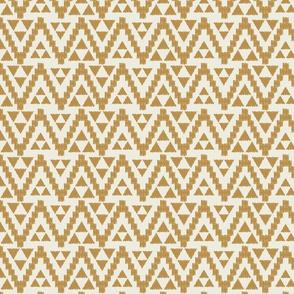 Geo Tribal-Cream & Mustard
