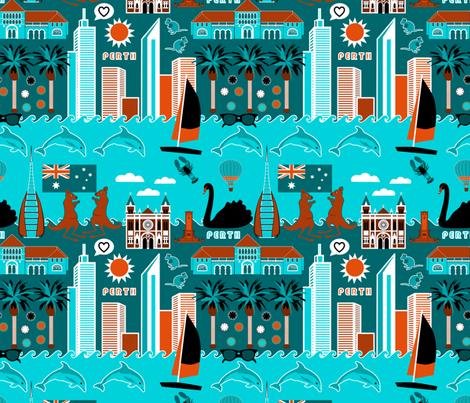 Perth Lifestyle fabric by vannina on Spoonflower - custom fabric