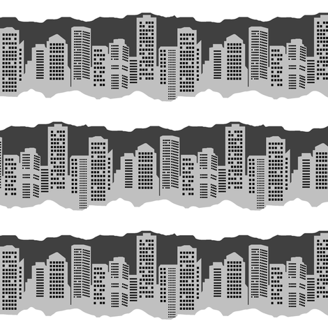 Winter in the City fabric by esheepdesigns on Spoonflower - custom fabric