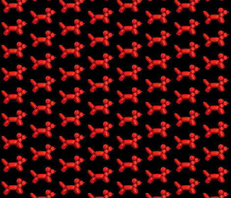 Red Balloon Dog fabric by interrobangart on Spoonflower - custom fabric