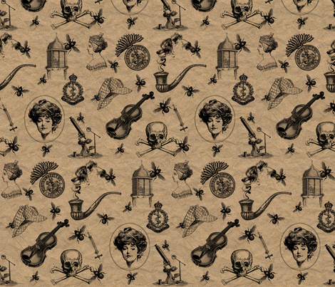 The Art of Deduction fabric by marchhare on Spoonflower - custom fabric