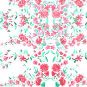 Bright Flowers Mirrored