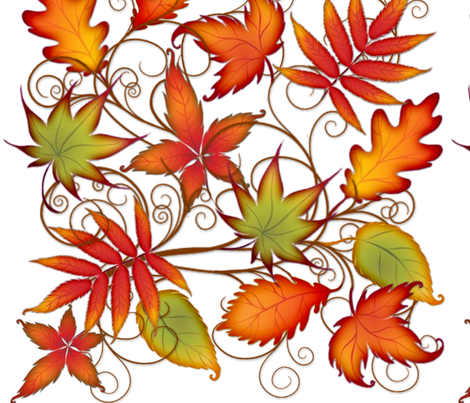 Autumn Leaves fabric by sssowers on Spoonflower - custom fabric