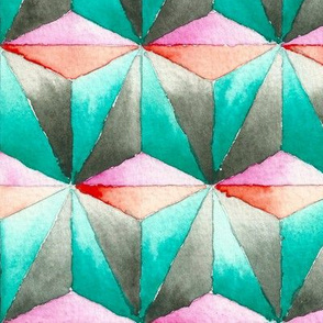 Watercolour Geometric
