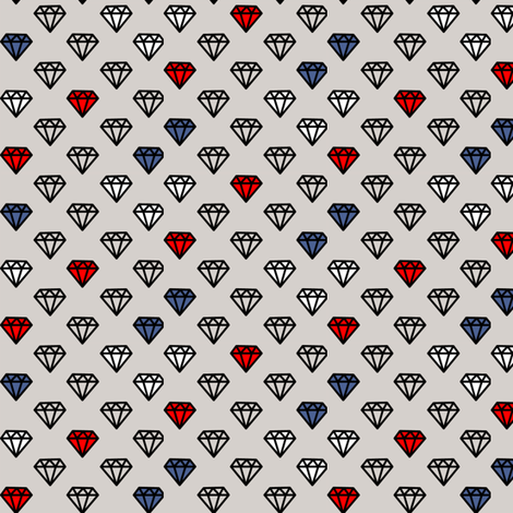 diamonds_on_grey fabric by susiprint on Spoonflower - custom fabric