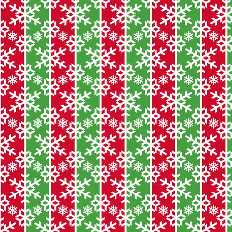 snow bauble stripe - xmassy fabric by sef on Spoonflower - custom fabric