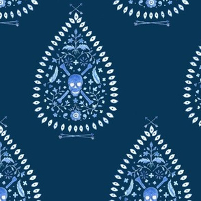 Paisley is Dead_Blues on Navy