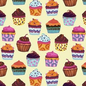 Colorful Cupcakes (Yellow)