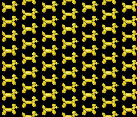 Yellow Balloon Dog fabric by interrobangart on Spoonflower - custom fabric