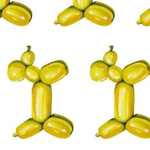 Yellow Balloon Dog, Rotated