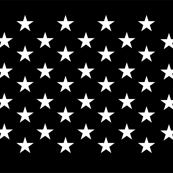 Thin Blue Line quilt stars
