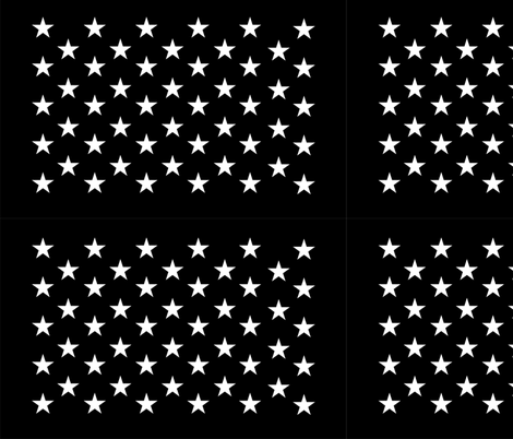 Thin Blue Line quilt stars - dark gray field fabric by renee2181 on Spoonflower - custom fabric