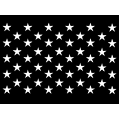Thin Blue Line quilt stars - dark gray field