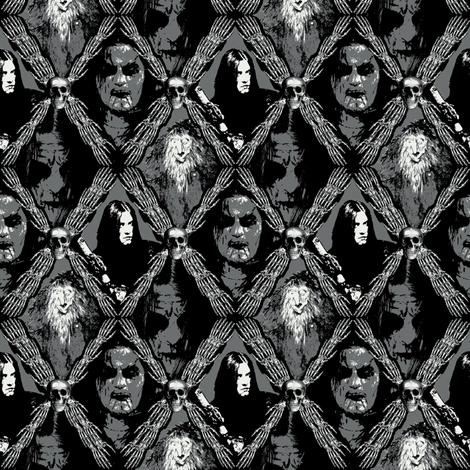 trolls and black metal fabric by susiprint on Spoonflower - custom fabric