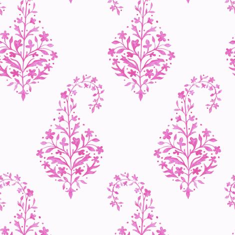 Painted_Paisley in Raspberry fabric by danikaherrick on Spoonflower - custom fabric