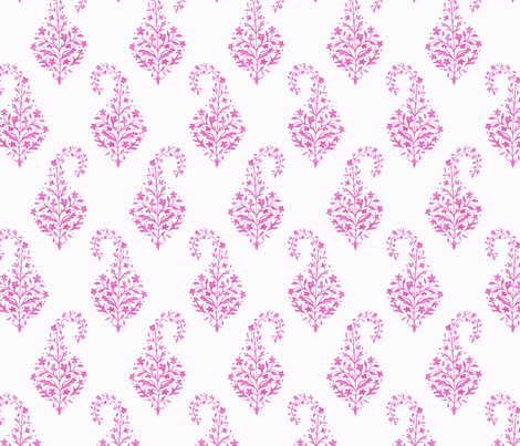 Painted_Paisley in Raspberry fabric by danikaherrick on Spoonflower - custom fabric