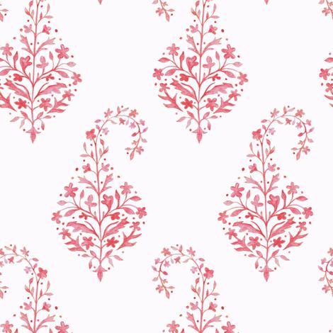 Painted Paisley in Coral fabric by danikaherrick on Spoonflower - custom fabric