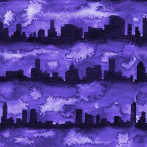Australia skyline purple