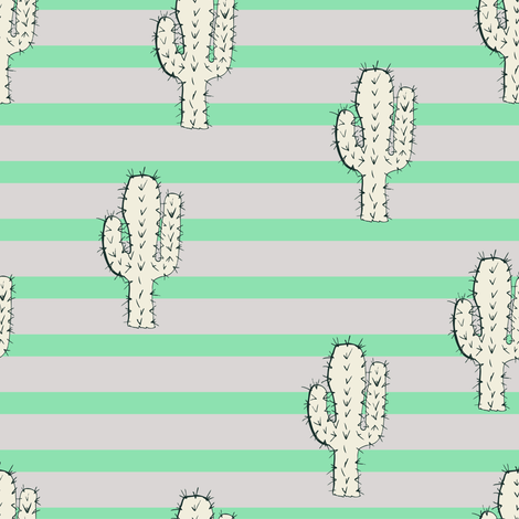 cactus_comb1 fabric by lina_lissner on Spoonflower - custom fabric