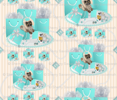 Shih Tzu Pearls & Stripes