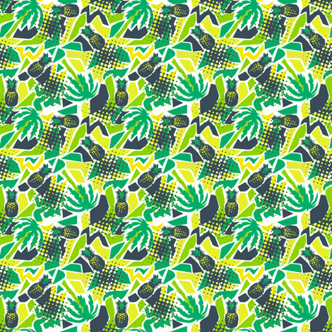 Tropical pineapple fabric by susiprint on Spoonflower - custom fabric